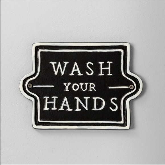 """Hearth & Hand """"Wash Your Hands"""" Wall Sign"""